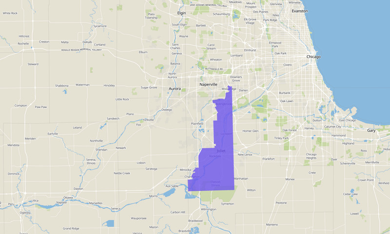 Illinois Senate 43rd District map, 2020 election