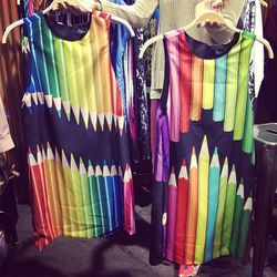 """Also showcasing at Liberty Fairs was new LA label <a href=""""http://tsavolosangeles.com/""""target=""""_blank"""">TSAVO</a>. These vibrant dresses brought the party."""