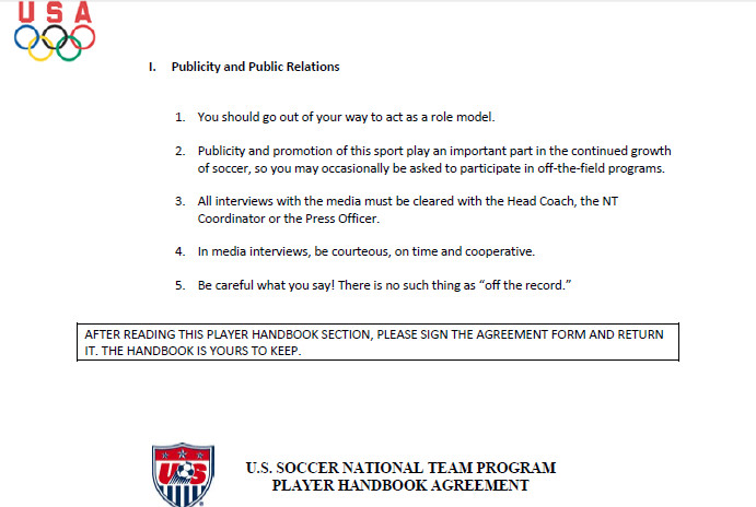 Paragraph from USOC Selection Procedure