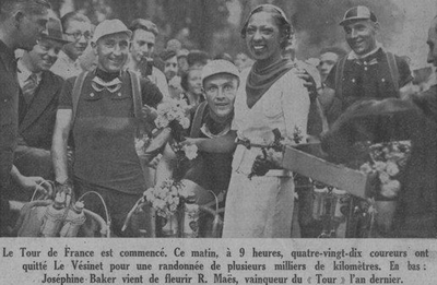 Sylvére Maes and Romain Maes with Josephine Baker