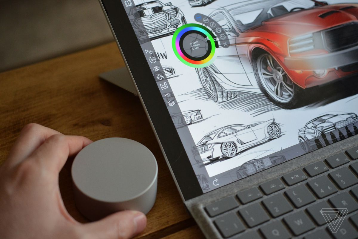 A closer look at Microsoft's crazy Surface Dial puck - The Verge