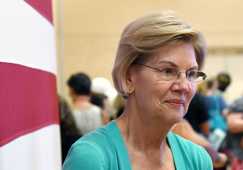 Democratic presidential candidate U.S. Sen. Elizabeth Warren (D-MA) waits to take photos with attendees after speaking at a community conversation at the East Las Vegas Community Center on July 2, 2019 in Las Vegas, Nevada.