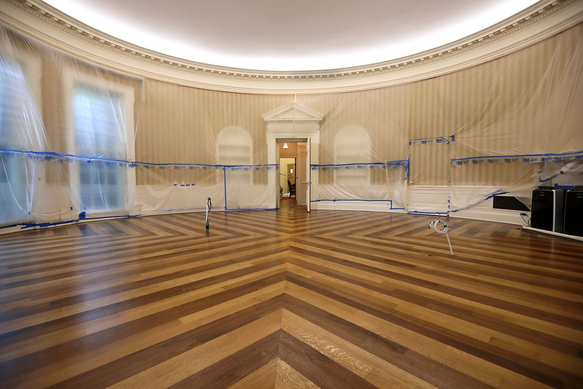 The White House West Wing renovation, revealed in six photos - Curbed on white house mosque, white house lighting, white house 1812, white house fire, white house aerial view, white house clothing, white house secrets, white house renovations 1947, white house jumper, white house snow removal, white house truman balcony, white house 1963, white house drone crash, white house scaffolding, white house architecture, white house interior, white house 1960, white house driveway gate, white house heckler, white house 6 floors,