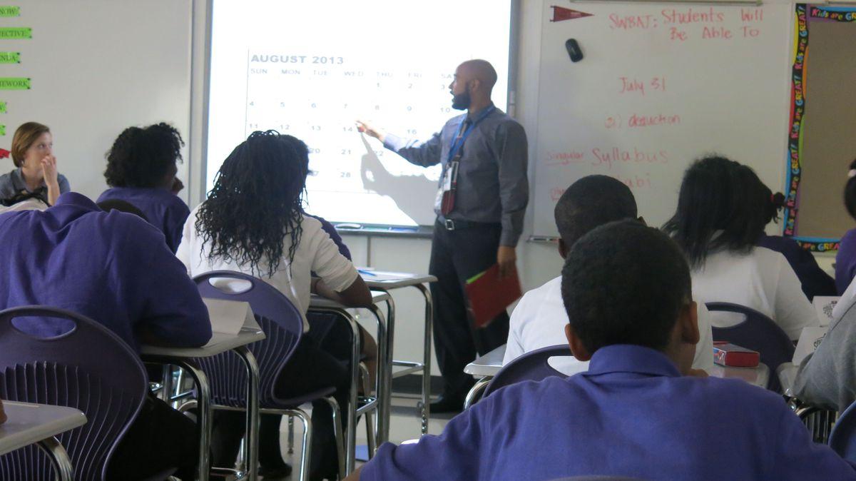 A sixth grade orientation class at Soulsville charter school.