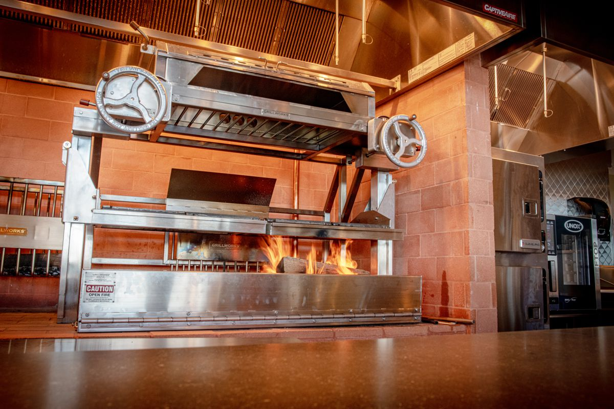 The Point's wood-burning grill and oven