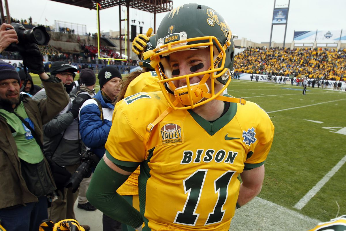 100% authentic e8f8a d7f2f 2016 NFL Draft: St. Louis Rams Among Teams Watching NDSU QB ...