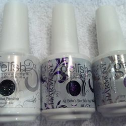 Our Gelish shades of choice.