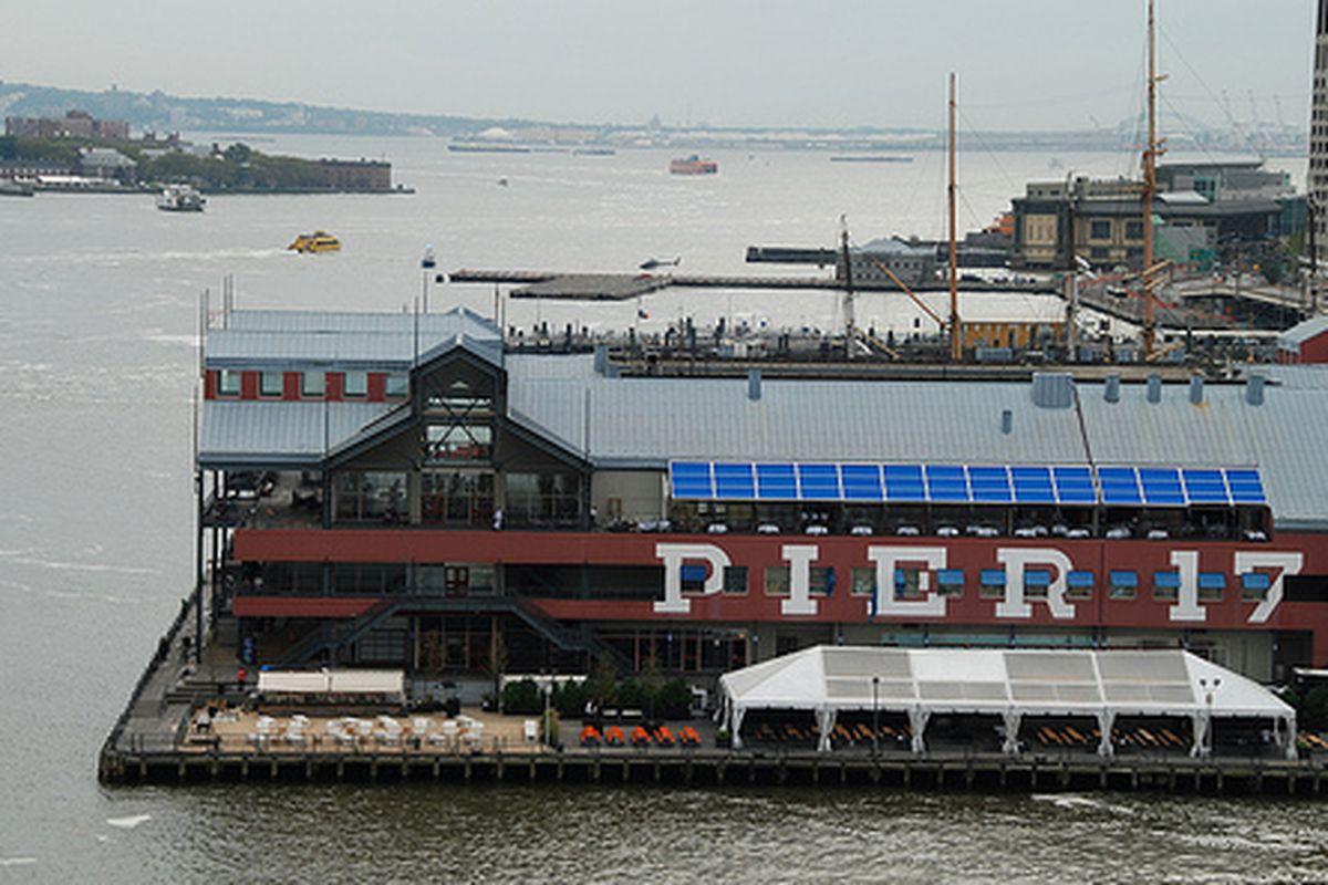 "Pier 17 before Hurricane Sandy. Photo via <a href=""http://www.flickr.com/photos/michaeltk/6401123495/"">michaeltk</a>/Flickr"