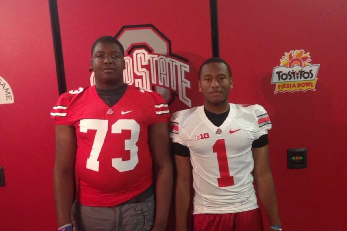 Jamarco Jones and Shelby Spence (Right) on their OSU visit.
