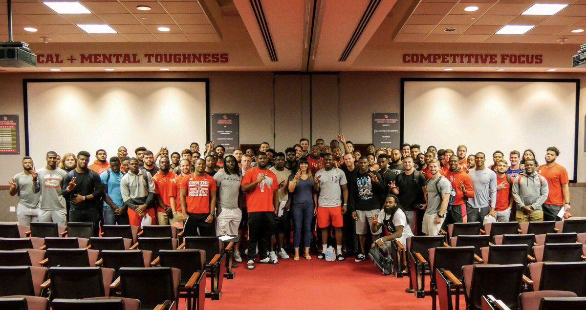 Brenda Tracy and the University of Houston football team