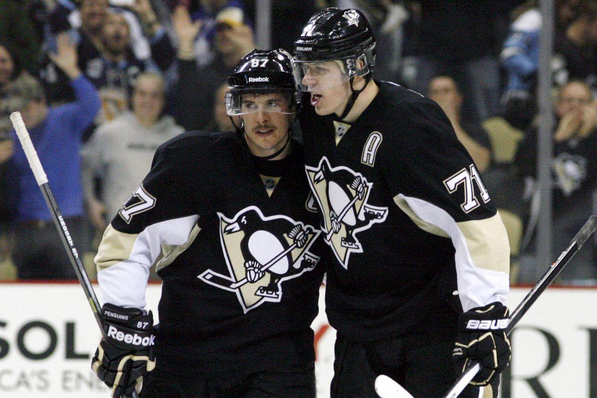 """We are score""-Malkin to Crosby"