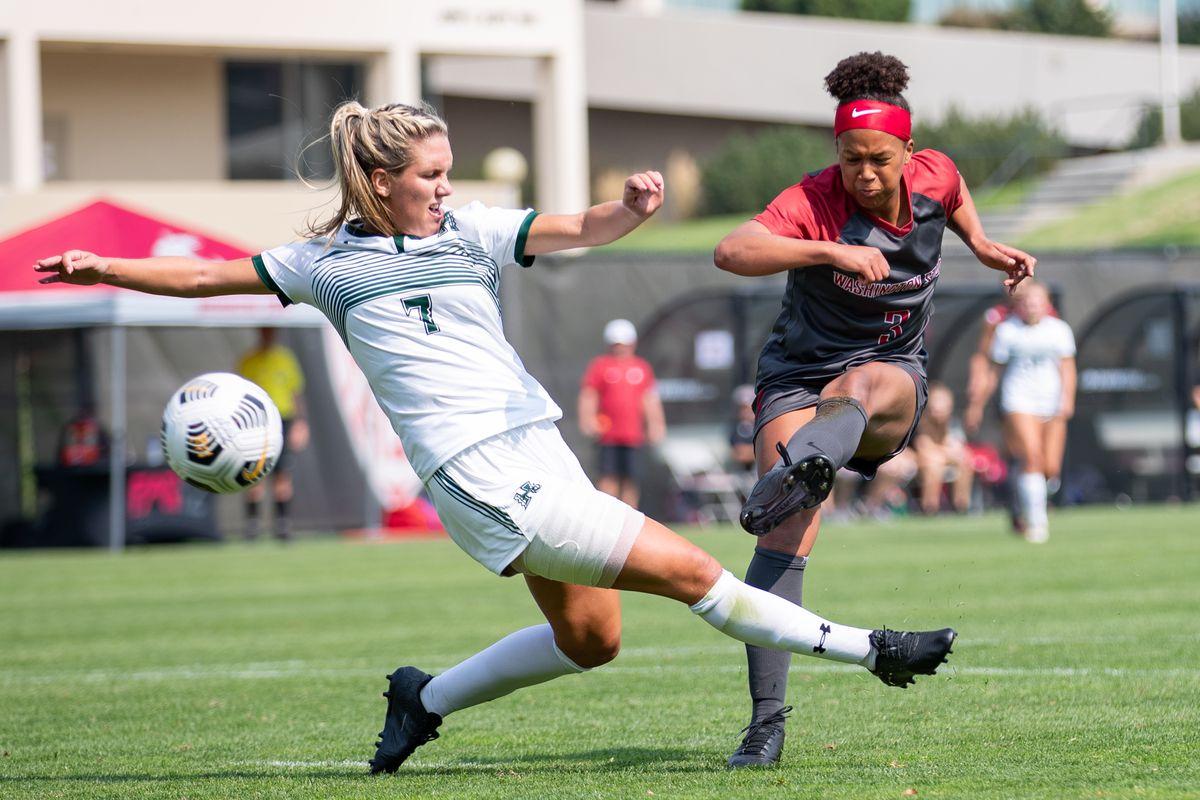 PULLMAN, WA - September 5: Washington State women's soccer team defeat Hawaii 7-0 at Lower Soccer Field