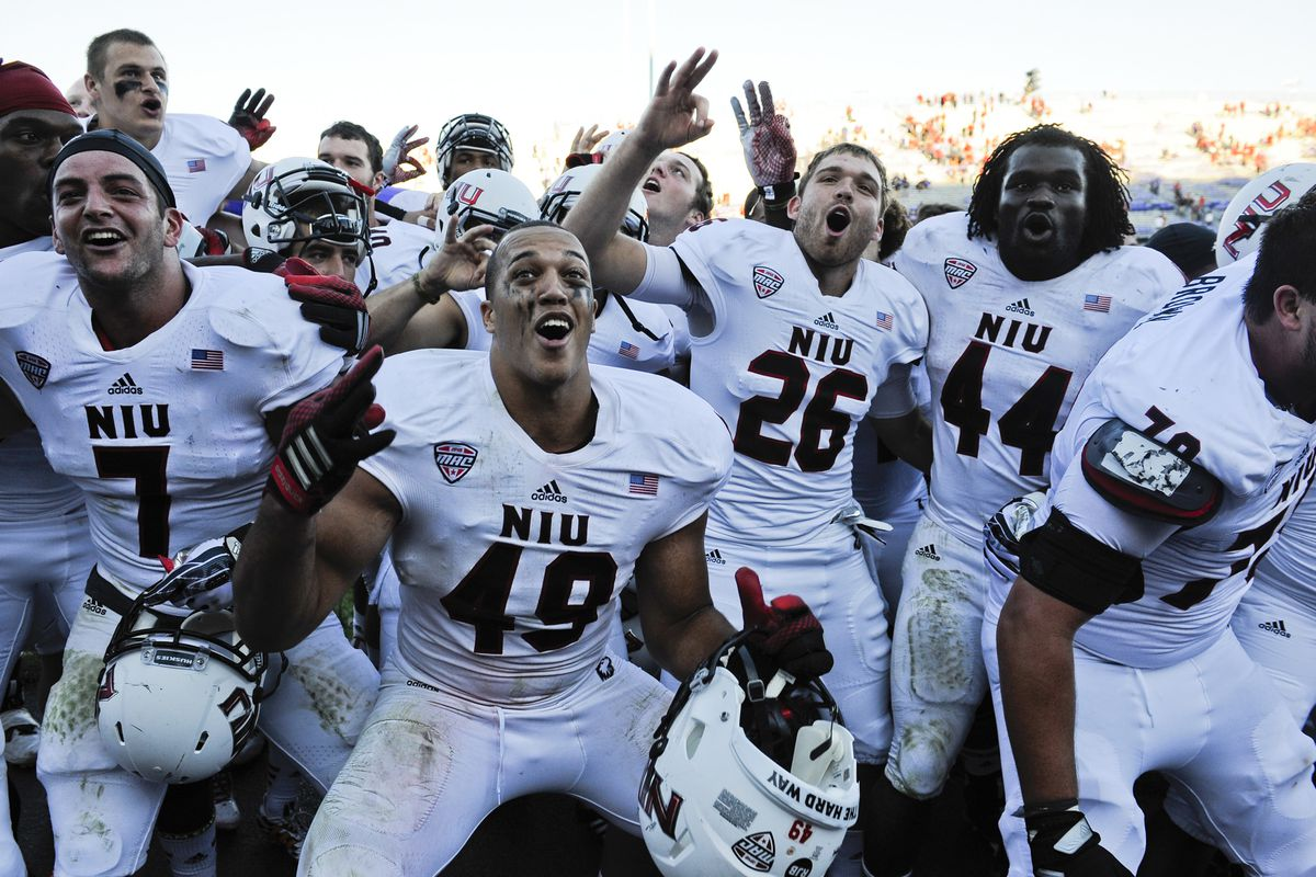 The boys in the new all-white uniforms were all smiles after their 23-15 road triumph over neighbors Northwestern