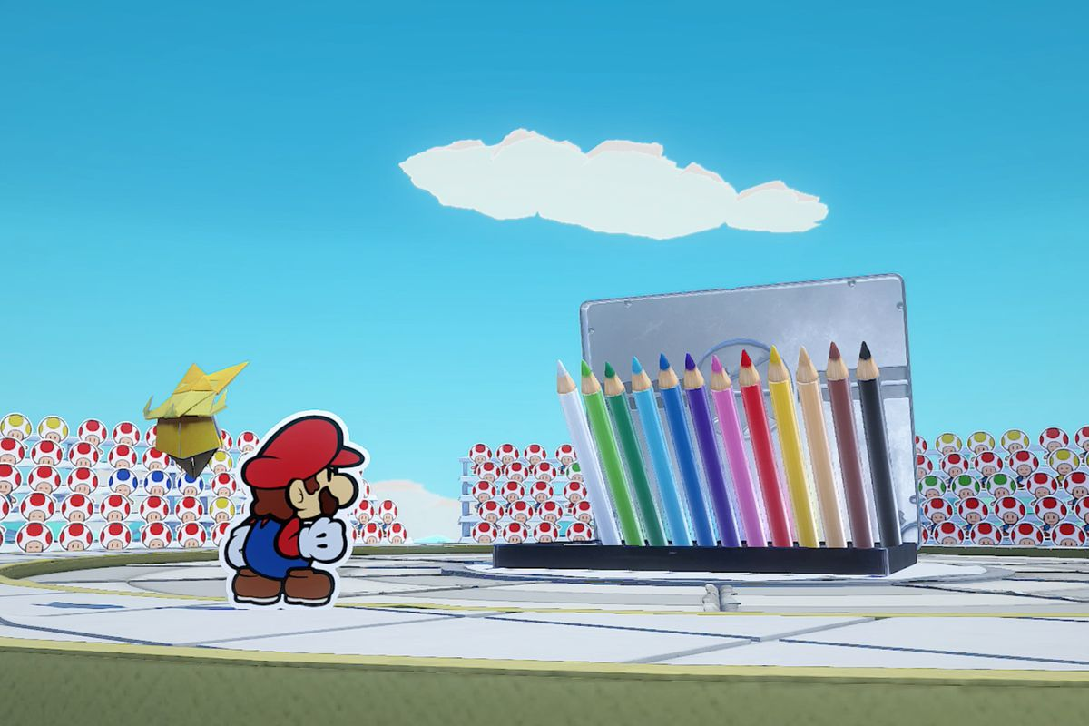 Paper Mario: The Origami King Colored Pencil boss fight guide