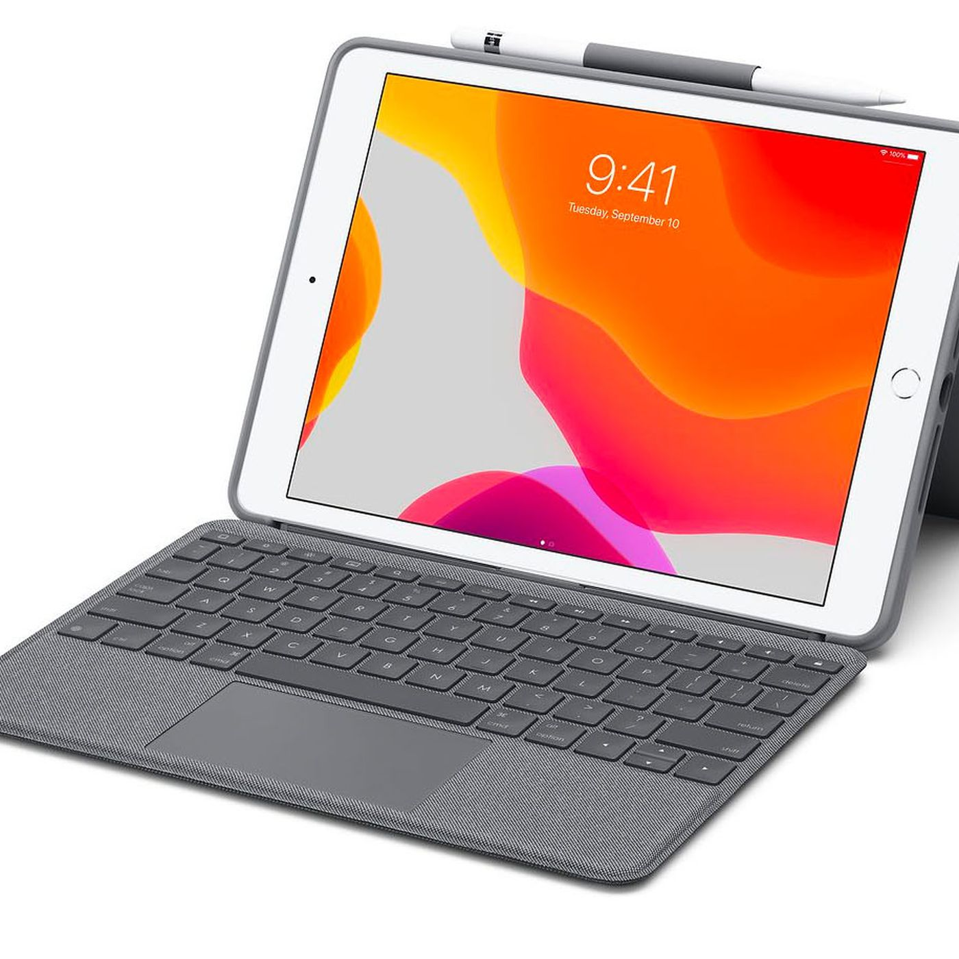 Logitech's iPad keyboard case with trackpad costs half as much as Apple's -  The Verge