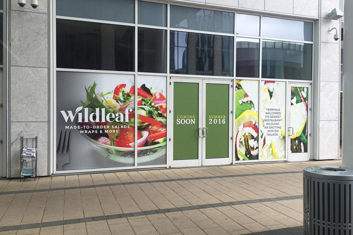 Exterior signage at Wildleaf.