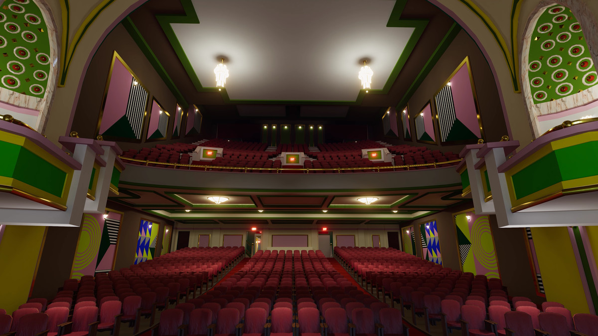 The virtual reality recreation of the Paramount Theatre for SXSW