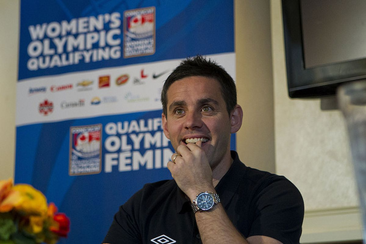 """John Herdman looks positive and so should you.  The Olympics are only a month away!  (via <a href=""""http://www.flickr.com/photos/canadasoccer/6754210403/in/set-72157628922123113/lightbox/"""">canadasoccer</a>)"""
