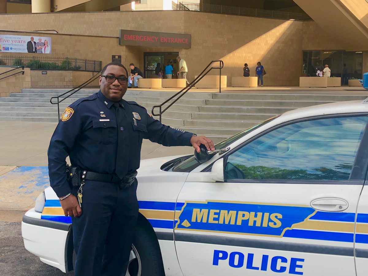 """Michael Spearman currently works at the detention center at Regional One Health when inmates need treatment. He also serves as a """"crisis intervention officer"""" to respond to mentally ill people who come in contact with police."""