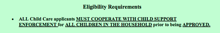 This excerpt comes from a county information sheet for parents explaining CCCAP.