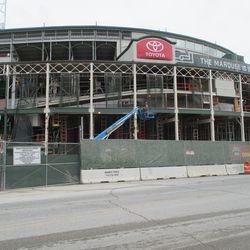 Sun 12/27: New scaffolding, main gate -