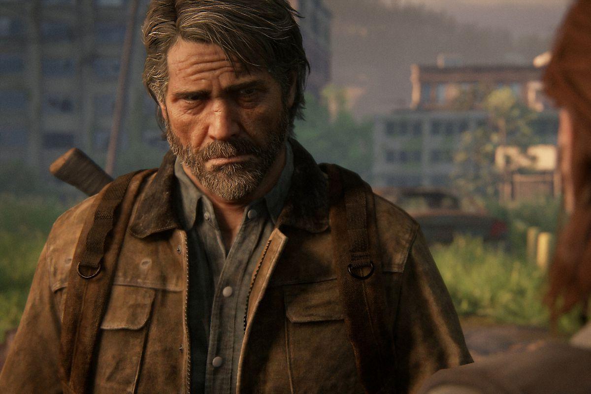 Joel looking at Ellie in The Last of Us Part 2