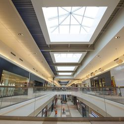 Natural lighting will flow inside the mall through 24 skylights with a total of 792 panels of glass!