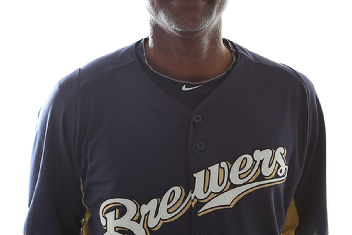 MARYVALE AZ - FEBRUARY 24:  Bullpen coach Stan Kyles #53 of the Milwaukee Brewers poses for a portrait during Spring Training Media Day on February 24 2011 at Maryvale Stadium in Maryvale Arizona.  (Photo by Jonathan Ferrey/Getty Images)