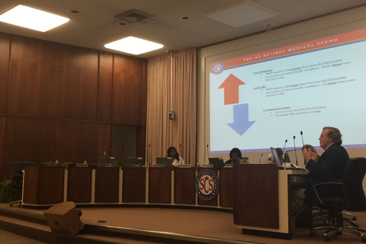 Board members for Shelby County Schools complete a final budget review on Wednesday.