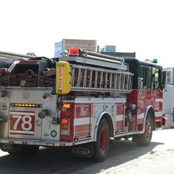 4:35 p.m. Engine 78 going out on a call -