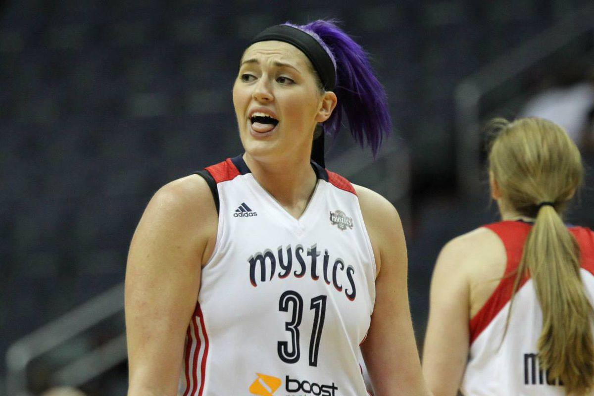 Stefanie Dolson was a bright spot in the Mystics' Thursday game against the Fever.