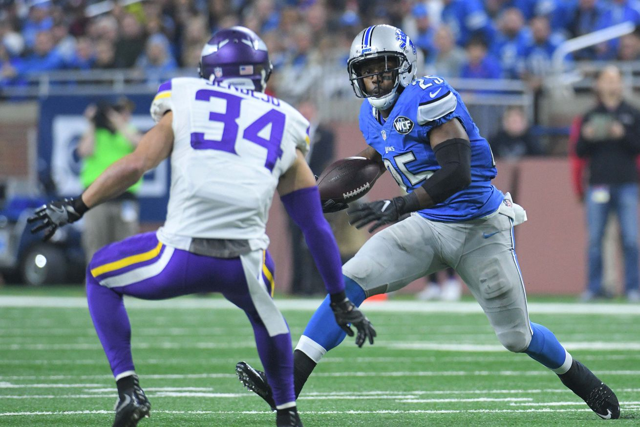 Report: Lions RB Theo Riddick ready for training camp, expected to avoid PUP list