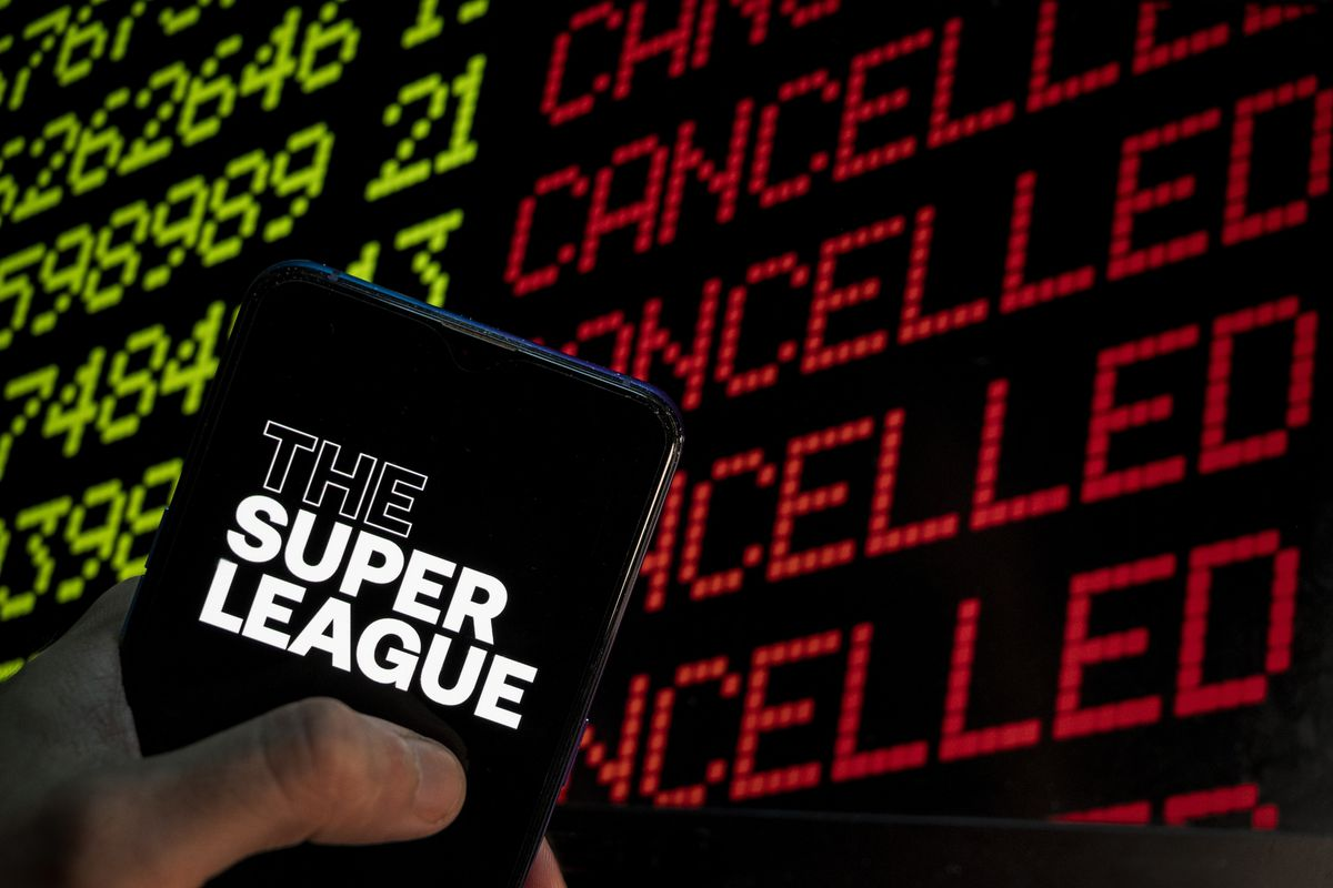 In this photo illustration the Super League, commonly...