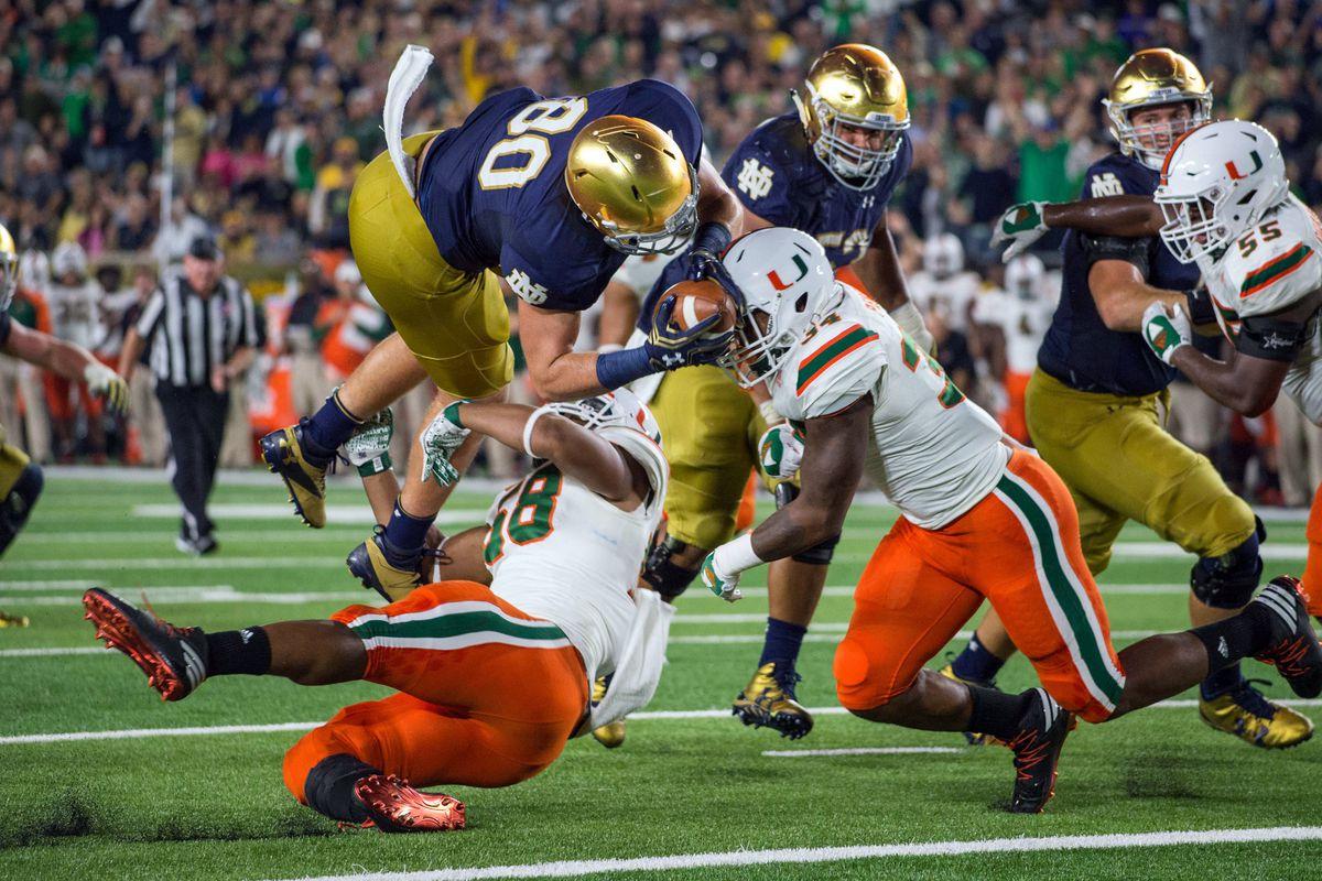 NCAA Football: Miami at Notre Dame