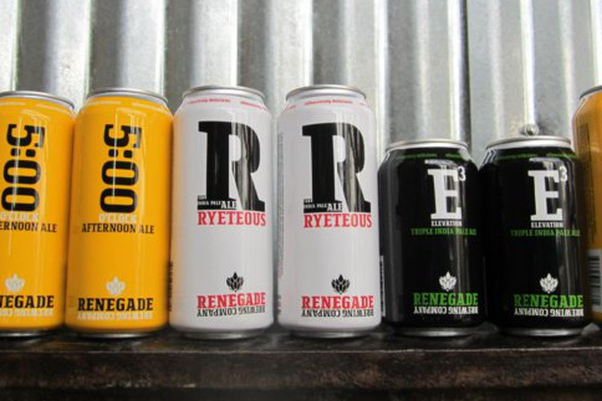 Renegade Brewing cans