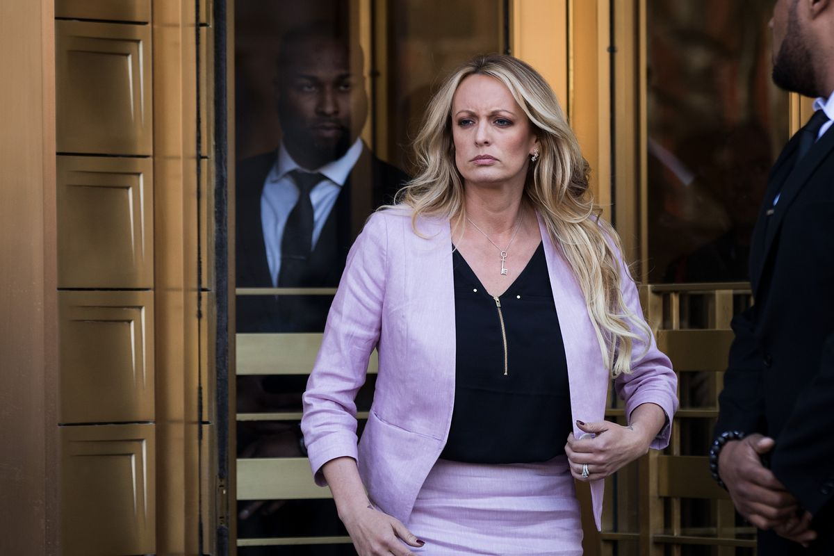 Stormy Daniels attends Michael Cohen hearing in New York on April 16.