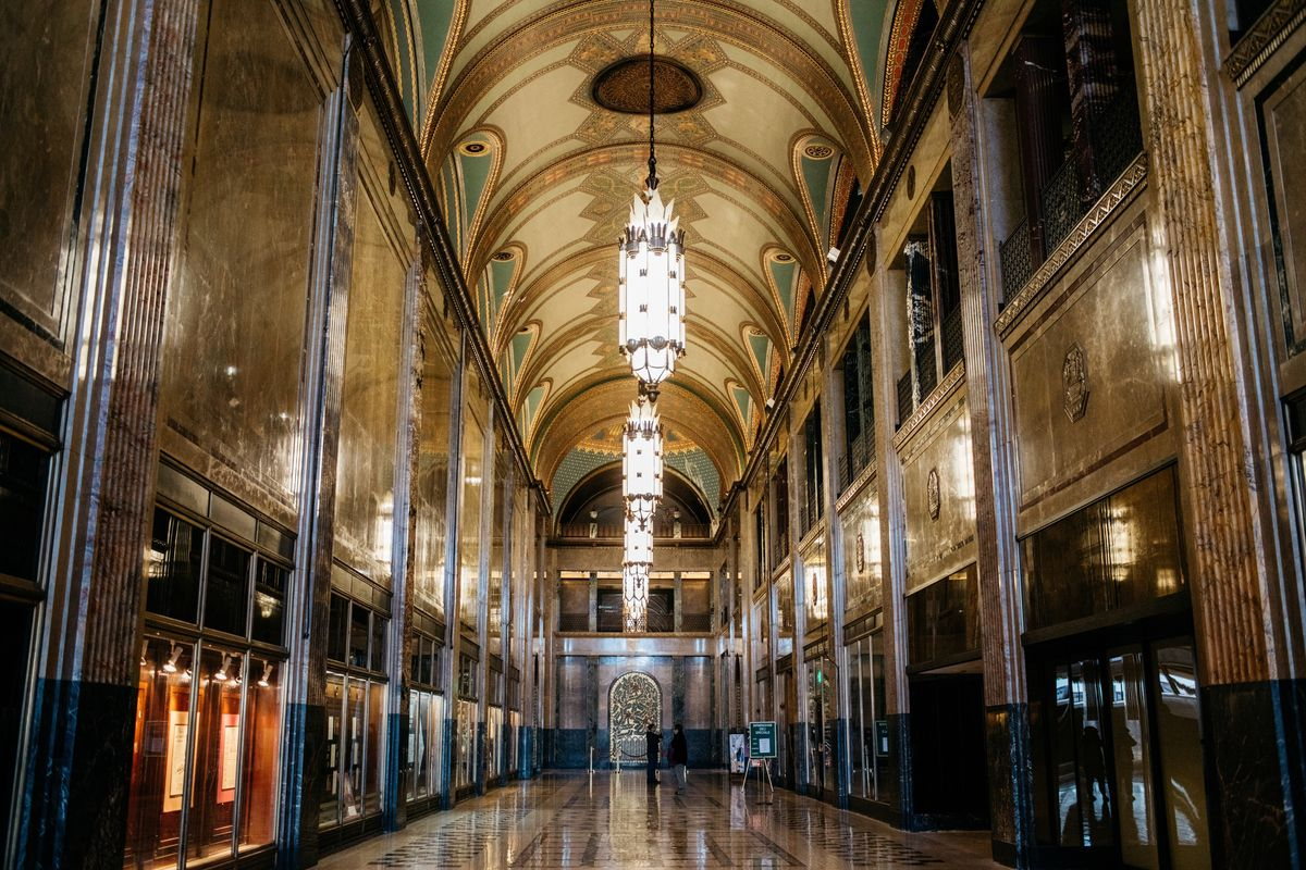 Fisher Building Lobby