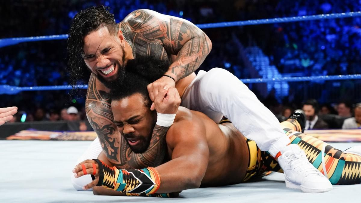 The Usos against Xavier Woods