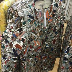 Sequin coat, $289 (was $1,098)