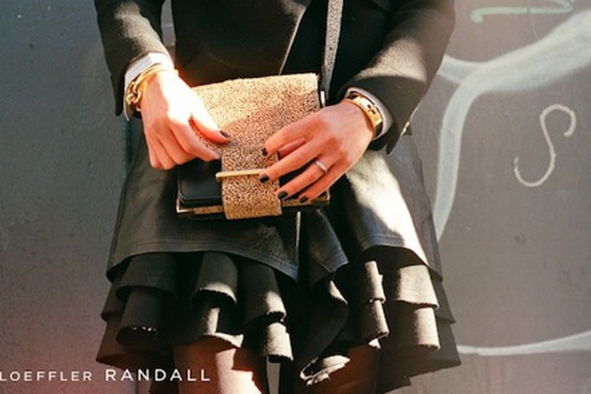 """The Mini Bag in Mini Lynx from Loeffler Randall's FW12 Collection via <a href=""""http://www.whowhatwear.com/website/home.php"""">WhoWhatWear</a>"""