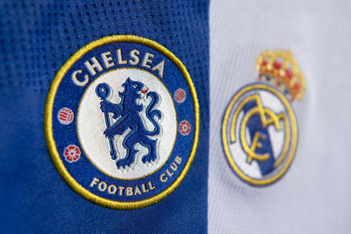 The Club Badges of Chelsea FC and Real Madrid