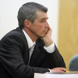 Gordon Moon, right, is pictured during a preliminary hearing Thursday, Dec. 22, 2011, in 8th District Court. Moon, the bishop of an Church of Jesus Christ of Latter-day Saints ward in Duchesne, is charged with charged with witness tampering, a third-degree felony; and failure to report abuse, a class B misdemeanor.