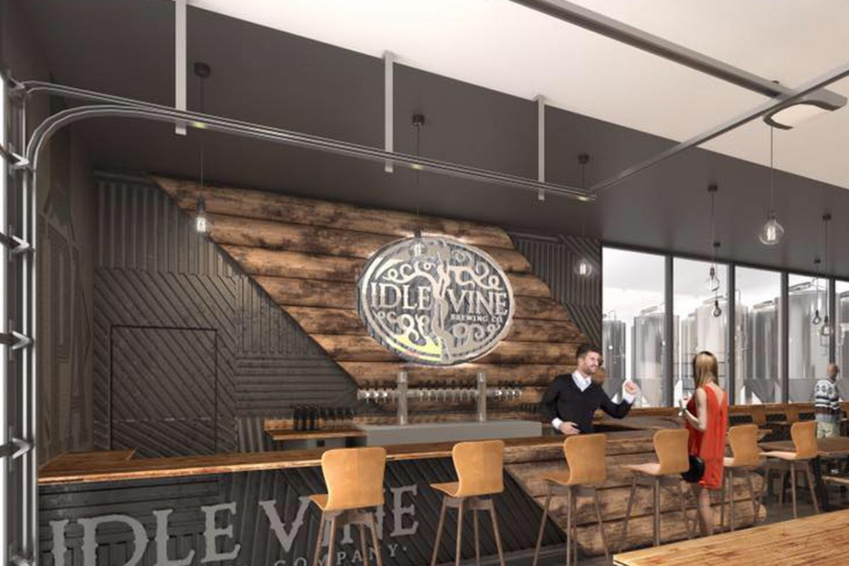 Rendering of Idle Vine Brewing Company