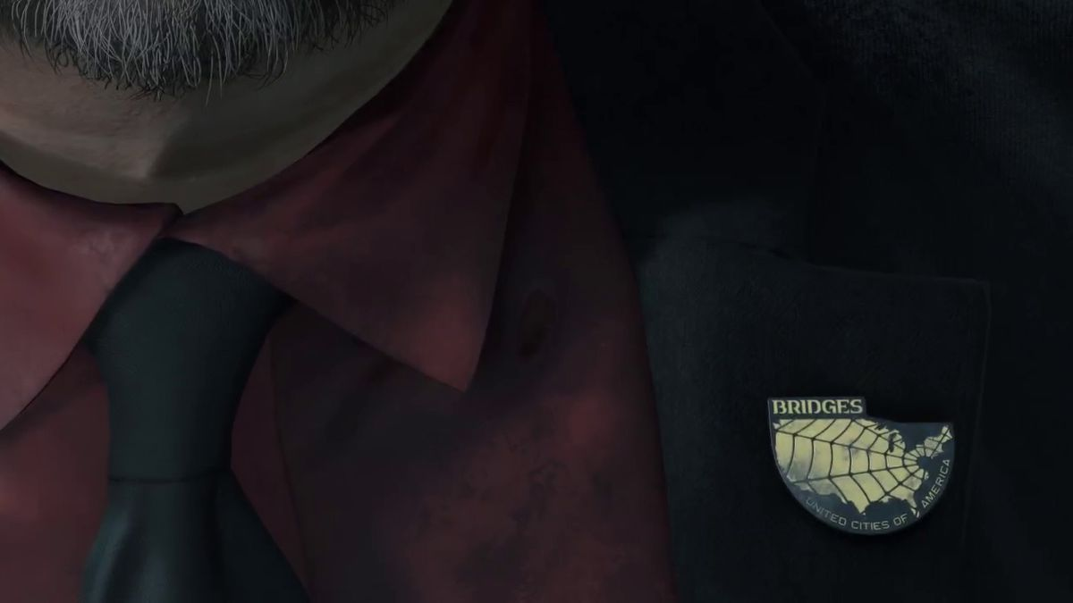 Death Stranding TGA 2016 trailer - Guillermo del Toro's BRIDGES lapel pin