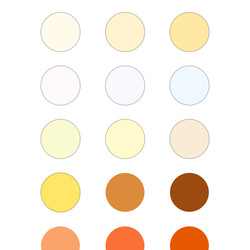 Some of the 42 available hues.