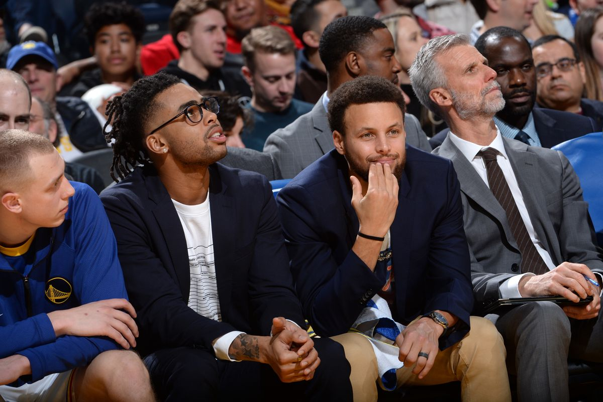 Warriors Steph Curry and D'Angelo Russell earning All-Star Game votes