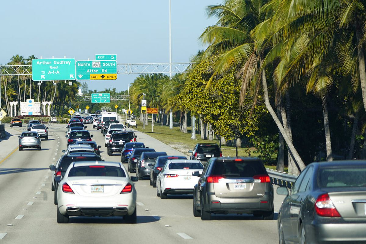 Cars in Miami Beach, Florida.