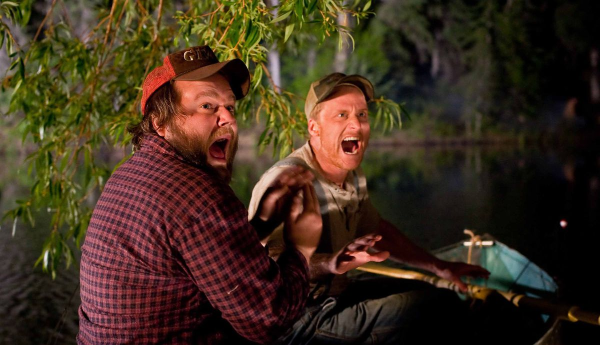 Tyler Labine and Alan Tudyk in Tucker and Dale vs. Evil.