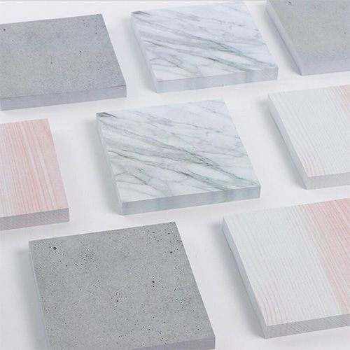 marble-pattern post-its