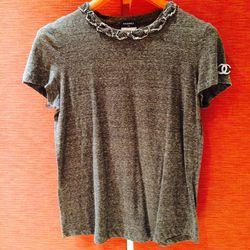 Chanel gray shirt // Size: 42 // $150